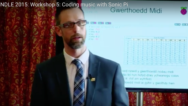 Ysgol Bryn Elian pupils coding music with Sonic Pi