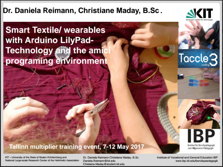 Using Smart Textiles and Wearables in Education